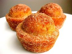 Cinnamon-Sugar Crusted Coffee Cake Muffins ... *WARNING: They taste like a donut. Be prepared for euphoria. cupcakes