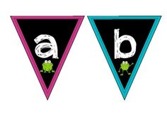 Bright and colourful frog word wall letters.  Perfect for a frog themed classroom! ...