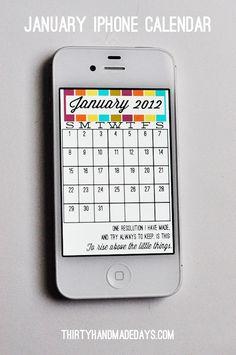 January 2012 iPhone calendar...just because.