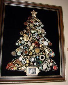 christma bling, bling tree, christma tree, christma craft, jewelri tree, christmas trees, jewelry tree, jewelri christma