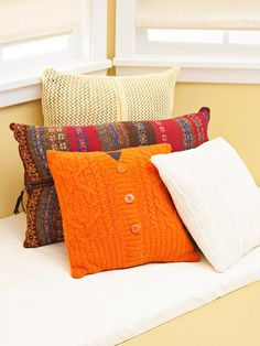 cable-knit sweaters into pillows