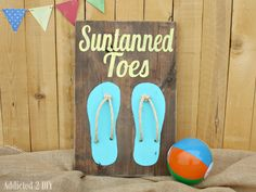 Rustic Wood Beach Art {Hello Summer}