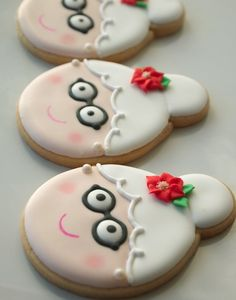 Adorable !! Mrs. Claus Cookies !! Recipe And Easy Decorate How to- !!