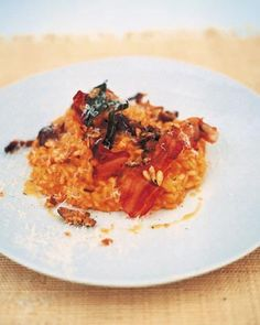 Jamie Oliver's butternut, sage, chestnut and pancetta risotto. #recipes, #risotto, #pumpkin. #rice