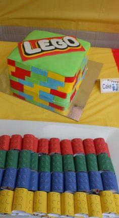 Lego cake at Lego Party #lego #party
