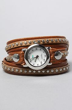 The Bali Silver Circle Wrap Watch in Mocha by La Mer