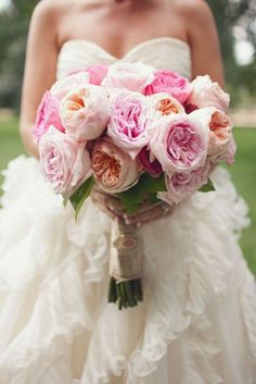 cabbage rose bouquets