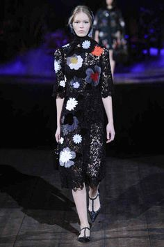 Dolce & Gabbana | Fall 2014 Ready-to-Wear Collection | Style.com fashion weeks, catwalk, runway, appliques, dolc, fall 2014, gabbana fall, 2014 readytowear, lace dresses