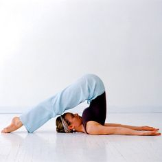 Do every night before bed. Plow Pose: For people who suffer from insomnia, Plow Pose may be your ticket to sounder slumber. This pose stretches out the whole back of your body and stimulates your thyroid.