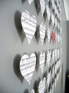 Stick out wall hearts for Valentine's day. Other shapes for other times? (Clovers for St. Patricks day? Pumpkins/Bats for Halloween?)