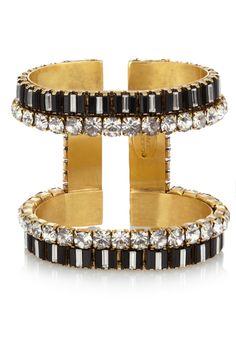 Erickson Beamon|Gold-plated Swarovski crystal cuff|NET-A-PORTER.COM