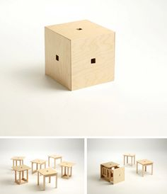 "Seating for Small Spaces…Check out the ""Cube"" From Naho Design"
