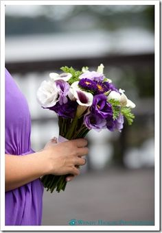 Purple and White Calla Lily Bouquet