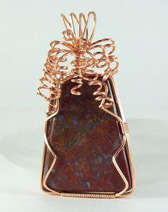 Copper Wire Wrapped Cabochon