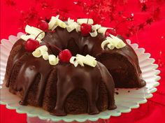 Chocolate-Cherry Truffle Cake