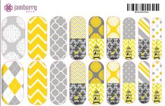 Get this look using my Yellow and Grey Files at www.frannyheck.jamberrynails.net