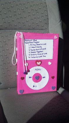 IPod Valentine's card box that Ashton and I made :-)