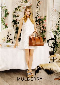 Preview | Cara Delevingne for Mulberry Spring/Summer 2014 Campaign shot by Tim Walker.