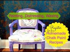 How to make Homemade Chalk Paint & Furniture Painting Tutorial - YouTube