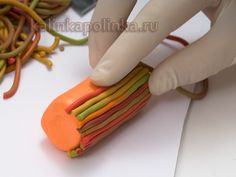master class striped beads of polymer clay - Polymer Clay for Beginners. Master classes on sculpting. - Workshops - Kalinkapolinka