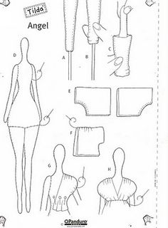 ATELIER CHERRY: Bonecas Tilda - Moldes e passo a passo