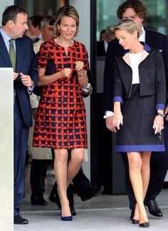 Noblesse & Royautés:  Queen Mathilde of Belgium visited the Louvre Museum in Lens, France, which houses a smaller collection from the Louvre Museum in Paris, September 13, 2013.
