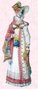 Después de 1808 ornamento españoles figuran en túnicas y apareció como áreas de cortado y las mangas en niveles. Cuando las mangas cubrían la mano se les llamaba a la mameluco. ejemplos ilustran la imagen  imagen aquí esta la longitud adicional de manga larga. Adornos, trenzas, cordones, terciopelo y otras dieron aire gallardo alegre para muchos una prenda de vestir, especialmente al aire libre