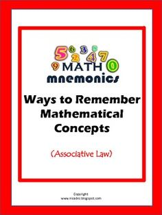 Math Tricks Mnemonics- Associative Law