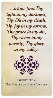 Puritan Prayers ~ The Valley of Vision