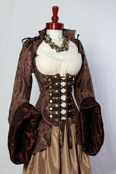 "from Etsy seller ""Damsel In This Dress"" #steampunk #goth #gothic #corset #fashion #costume"