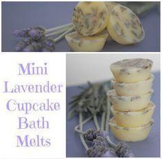 DIY Mini Lavender Cupcake Bath Melts