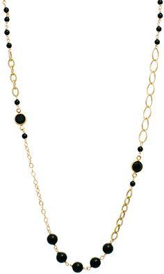 Coco Necklace in Onyx $148 #swarovski #pearls #jewelry