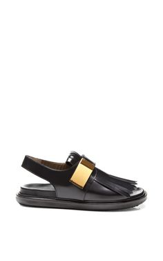 Fringed Leather Sandals by Marni Now Available on Moda Operandi