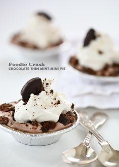 Chocolate Thin Mint Mini Pie