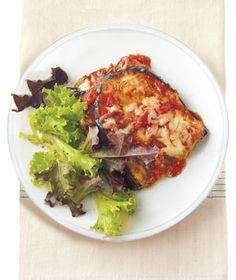 """eggplant """"lasagna"""" with ricotta and asiago - another way to satisfy cheese cravings!"""