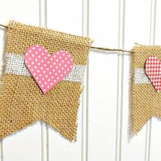 Learn how to decorate paper hearts with washi tape and create this simple love-y banner