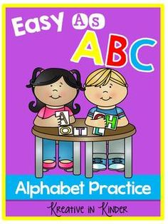 Easy As ABC Alphabet Review! This unit was created as an end of year review for my students but could easily be used anytime in the year. There are two types of worksheets, with a sheet for each letter. $ alphabet knowledg, kindergarten kolleagu, tpt blog