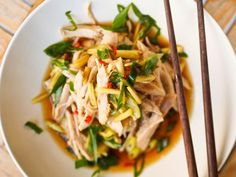 Shredded #chicken with #Asian ginger sauce, a simple yet delicious weeknight #dinner, both #glutenfree and #dairyfree