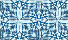 Square Faux Bois  White on Blue