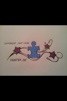 Autism awareness tattoo I'm getting for my brother <3