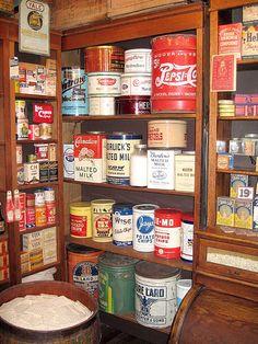 Vintage kitchen tins