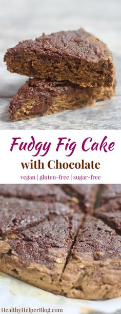 Fudgy Fig Cake with