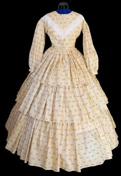 1800's Civil War Victorian 3 tier Day Dress by CivilWarBoutique. , via Etsy.