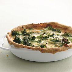 Broccoli Garlic Quiche Recipe | Epicurious.com