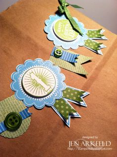 Stampin' Up! Blue Ribbon  by Jen A at Stamped Silly