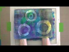 Gelli Printing on Fusible Interfacing! New video tutorial- Printing on a different substrate is a great way to change things up. Watch this video and get inspired to create Gelli prints on nonwoven fusible interfacing!
