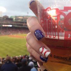 Baseball nails- so cute