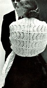 Allegro Shawl -  free vintage knit pattern originally published in Stoles, Book 133