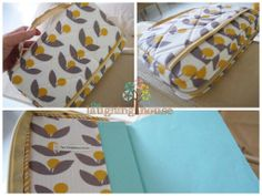 Newly completed Zippered Bible Cover, in Tove Dandelion fabric, paired with a complementing Korkek (Dandelion) fabric, by Lotta Jansdotter.  http://thelaughinghouse.etsy.com http://laughinghousefabric.etsy.com
