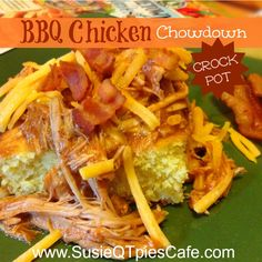New family favorite recipe .... BBQ Chicken Chowdown .... best yet it can be made in the crockpot! #fallrecipes #crockpot #chickenrecipes